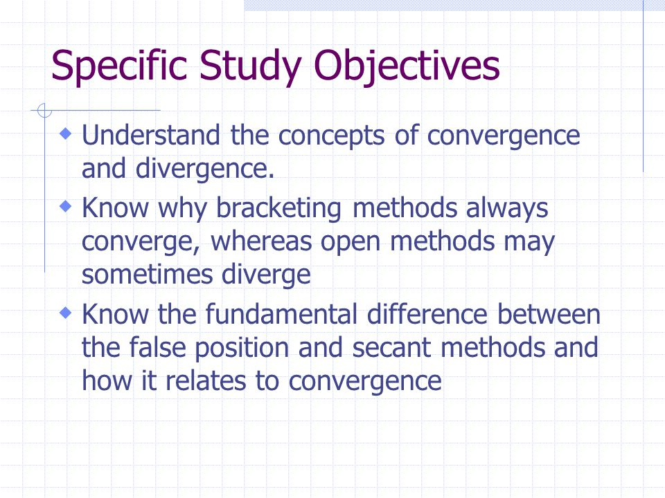  Understand the concepts of convergence and divergence.