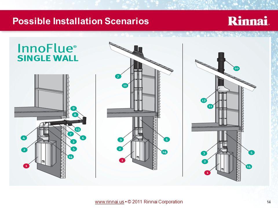 www.rinnai.uswww.rinnai.us © 2011 Rinnai Corporation 14 Possible Installation Scenarios