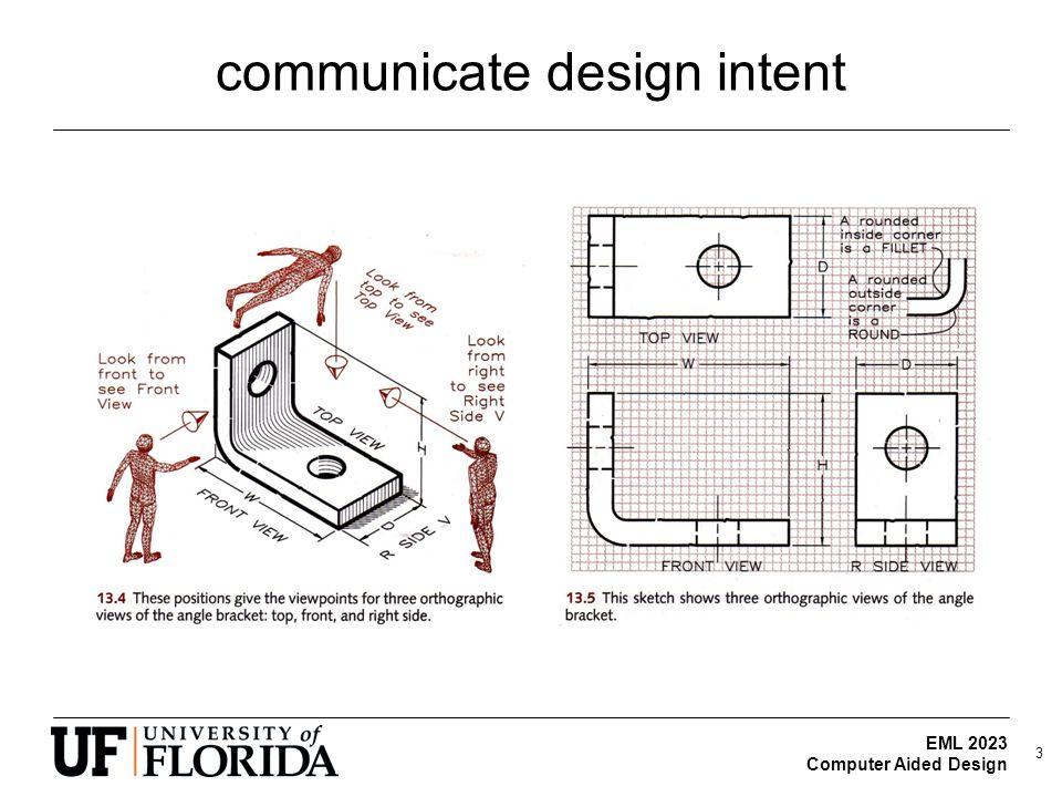EML 2023 Computer Aided Design communicate design intent 3