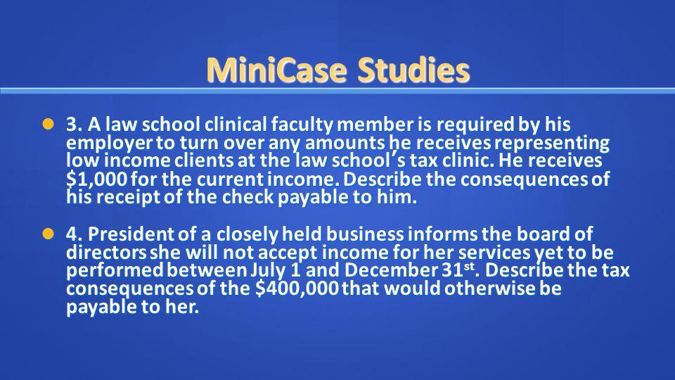MiniCase Studies 3.
