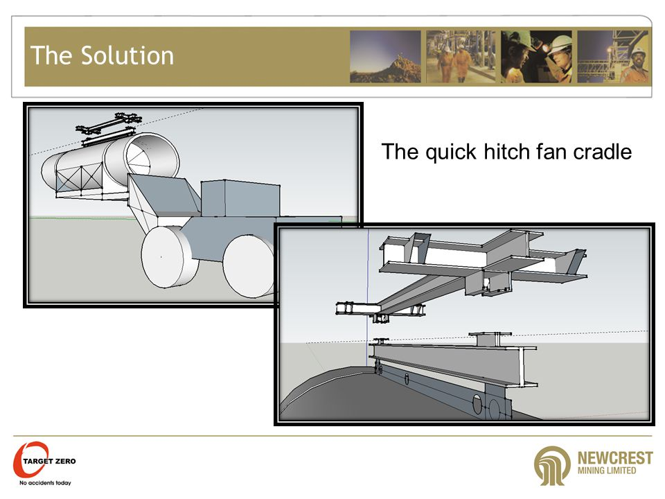 The Solution The quick hitch fan cradle