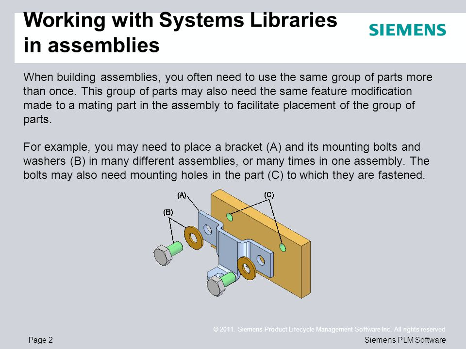 Page 2 © 2011. Siemens Product Lifecycle Management Software Inc.