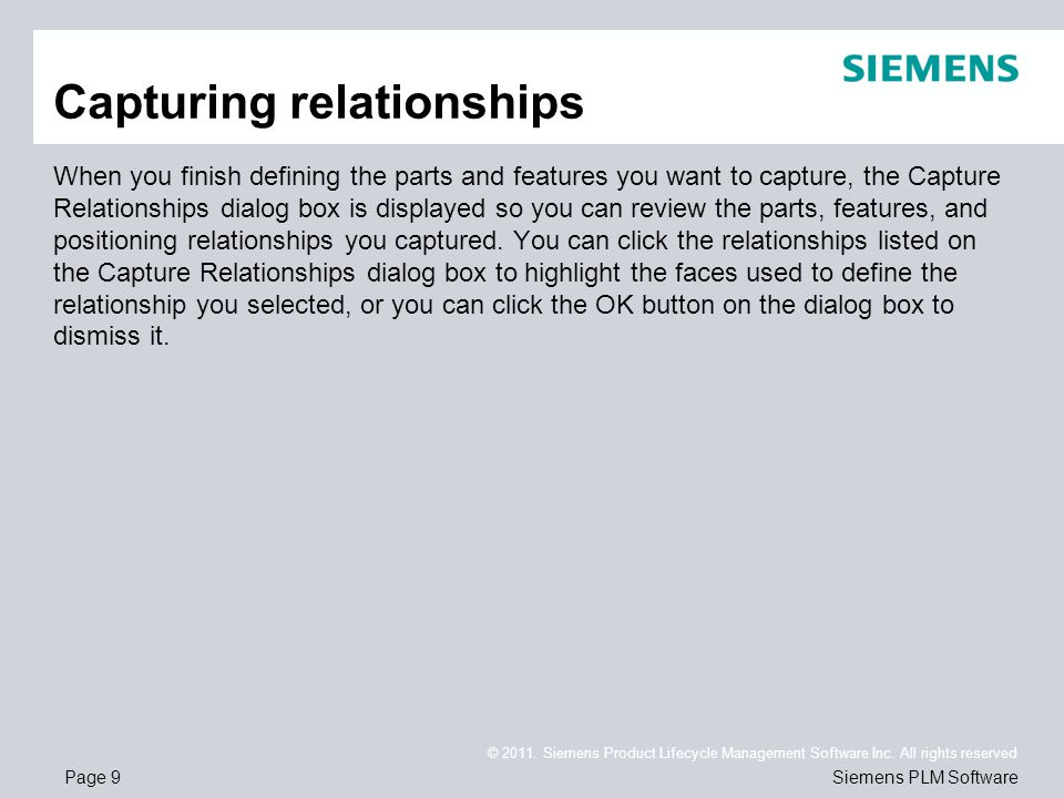 Page 9 © 2011. Siemens Product Lifecycle Management Software Inc.
