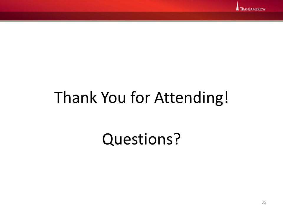 Thank You for Attending! Questions? 35