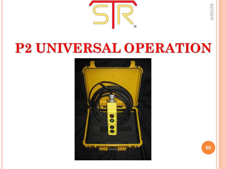 9/27/2010 60 P2 UNIVERSAL OPERATION