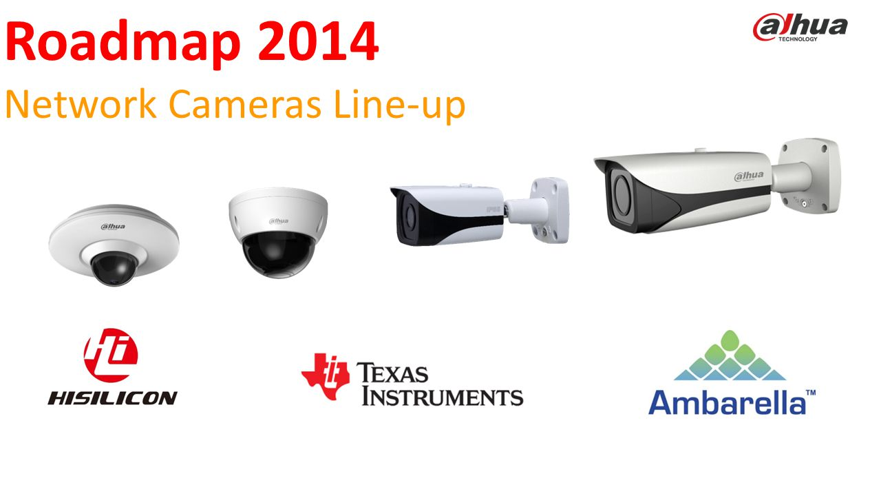 © 2013 DAHUA TECHNOLOGY Roadmap 2014 Network Cameras Line-up