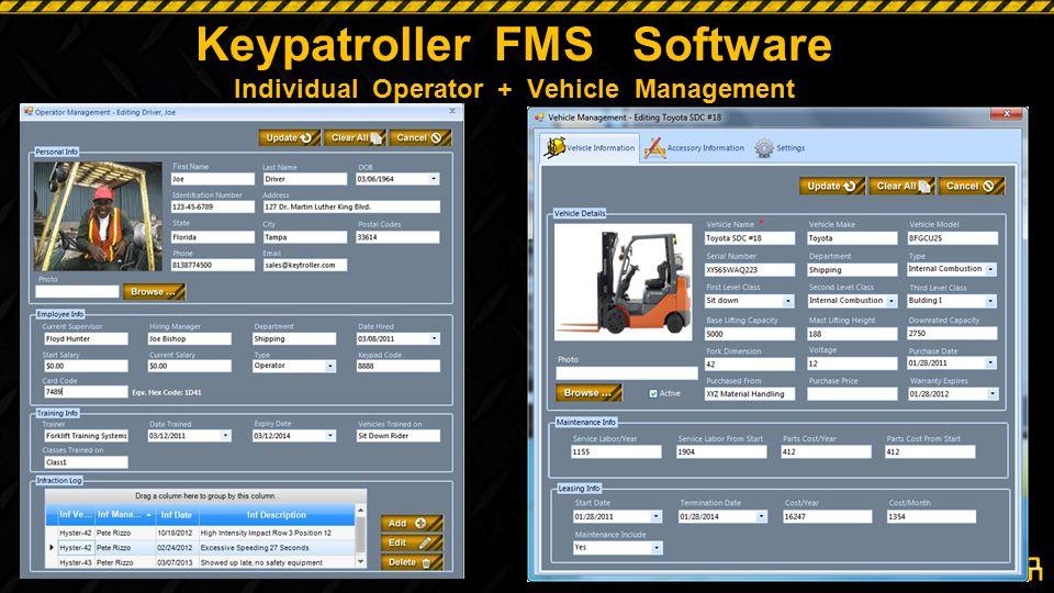 Keypatroller FMS Software Individual Operator + Vehicle Management