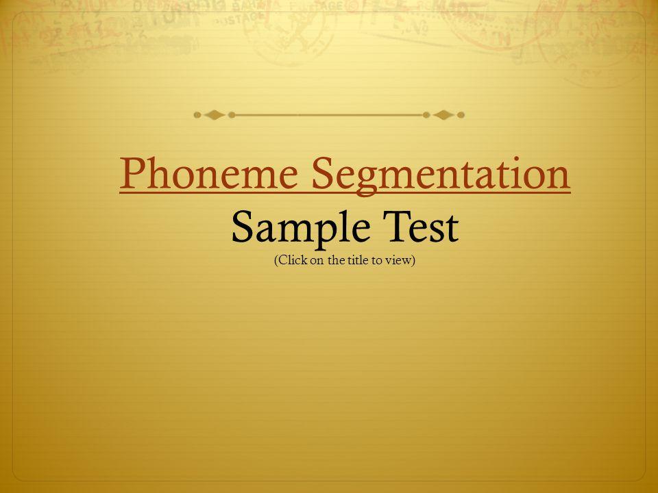 DAZE Test DAZE Test Scoring Sample (Click on the title to view)