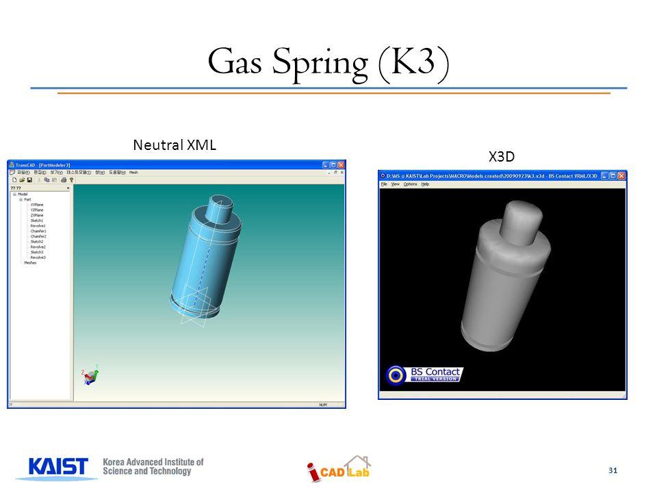 Gas Spring (K3) Neutral XML X3D 31
