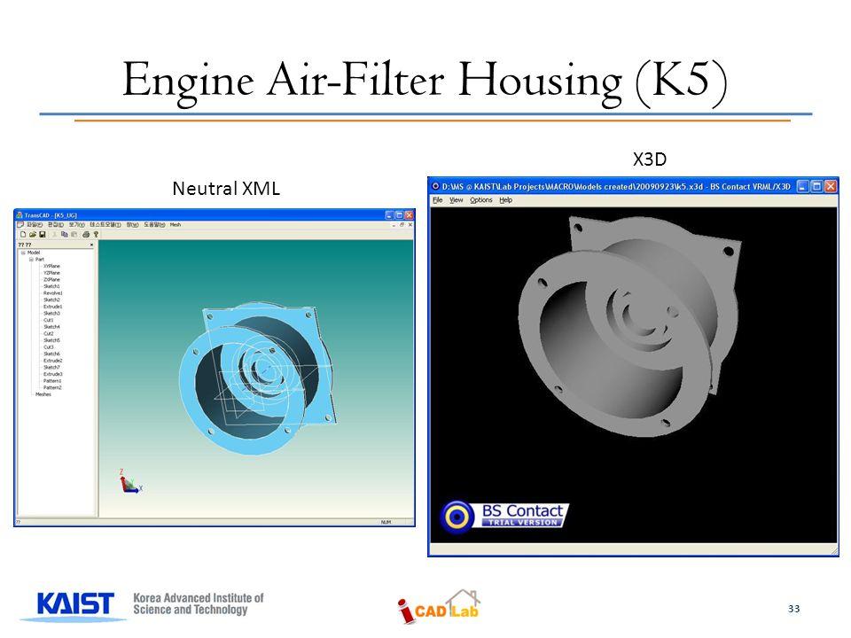 Engine Air-Filter Housing (K5) Neutral XML X3D 33