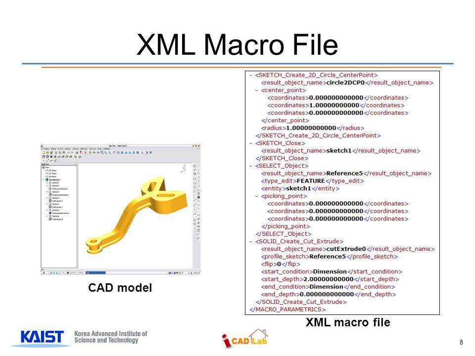 8 XML Macro File CAD model XML macro file