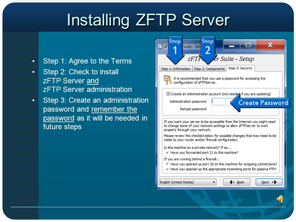 Go to: www.safetytrack.net/zftp.exe Download ZFTP Server Go to www.safetytrack.net/zftp.exe to download andwww.safetytrack.net/zftp.exe install ZFTP Server Suite.