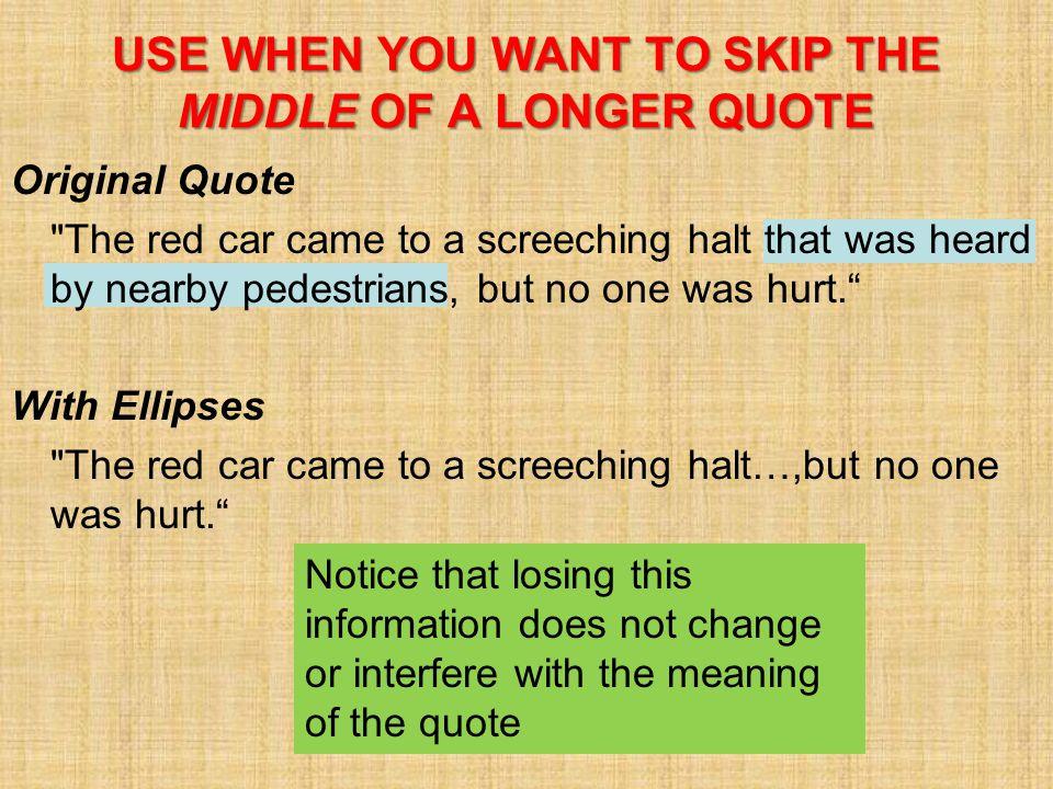 Original Quote
