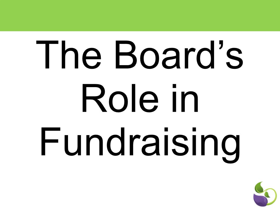 The Board's Role in Fundraising