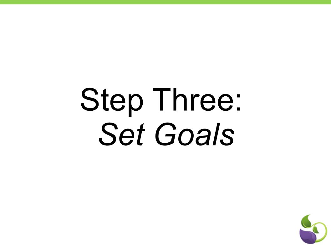 Step Three: Set Goals