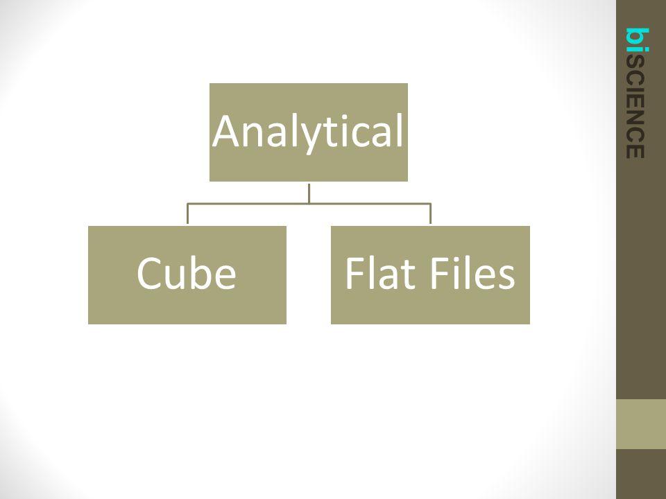 bi SCIENCE Analytical CubeFlat Files