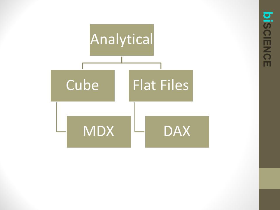 bi SCIENCE Analytical Cube MDX Flat Files DAX