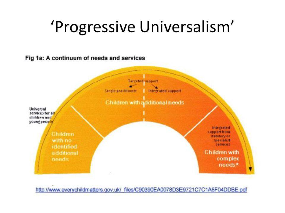 'Progressive Universalism'