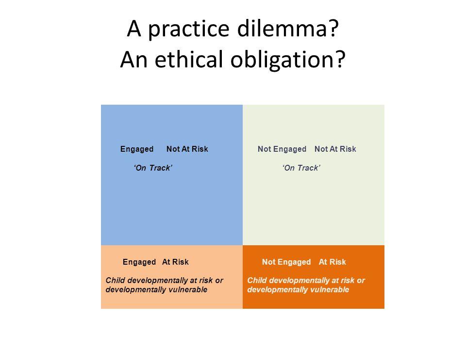 A practice dilemma. An ethical obligation.
