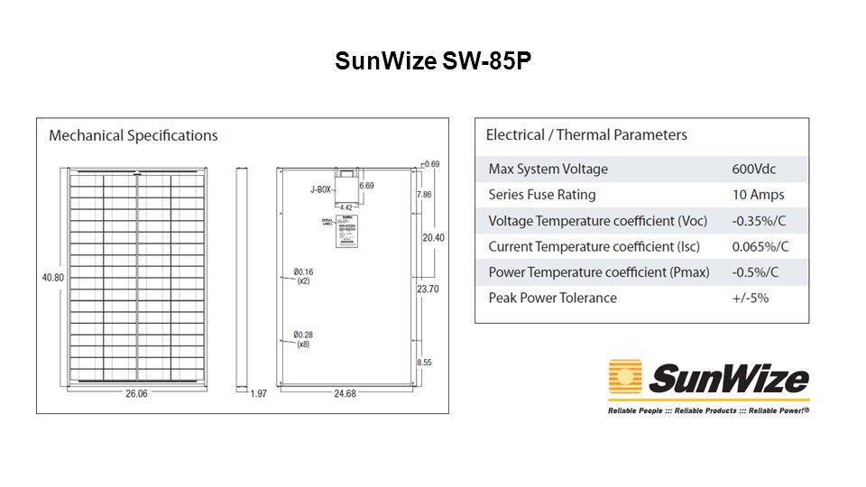 SunWize SW-85P