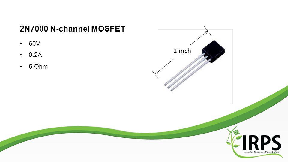 2N7000 N-channel MOSFET 60V 0.2A 5 Ohm 1 inch