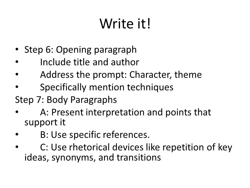 Write it.