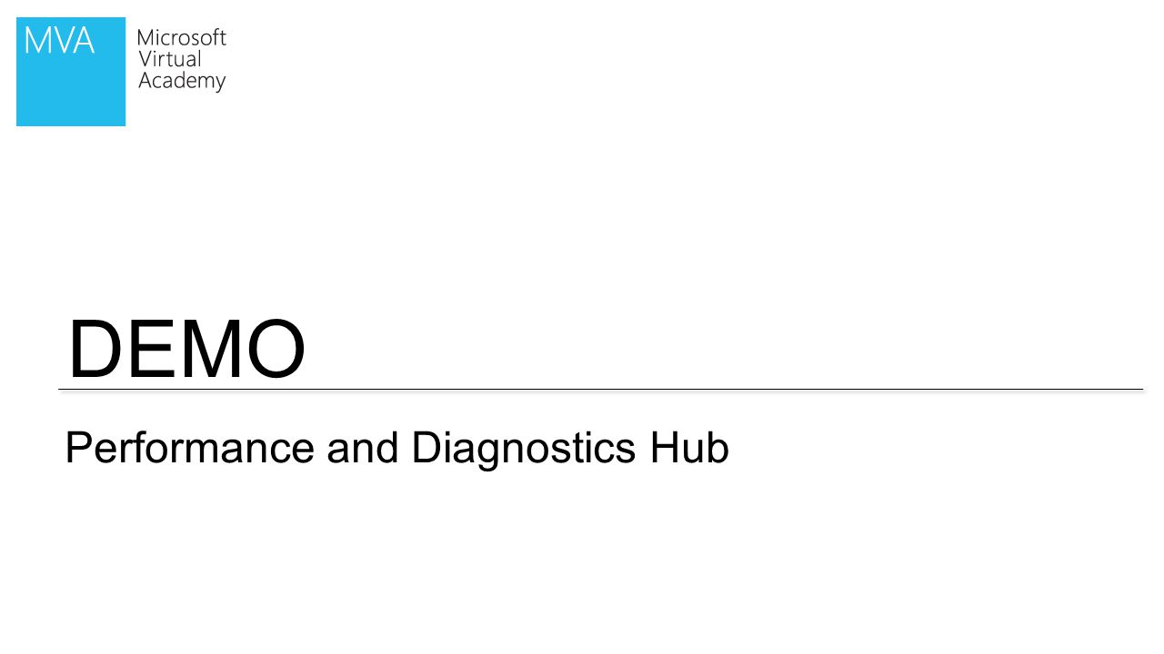 DEMO Performance and Diagnostics Hub