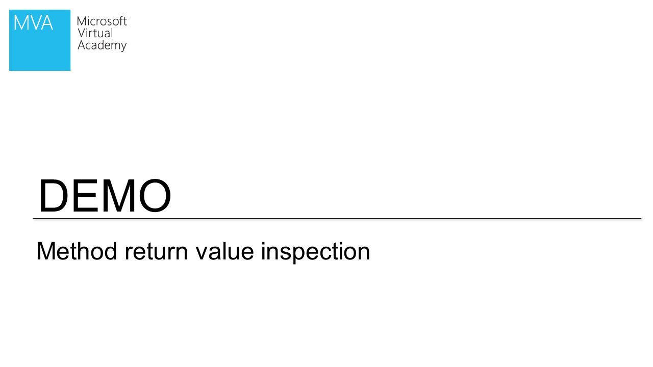 DEMO Method return value inspection