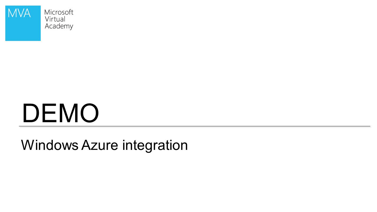 DEMO Windows Azure integration