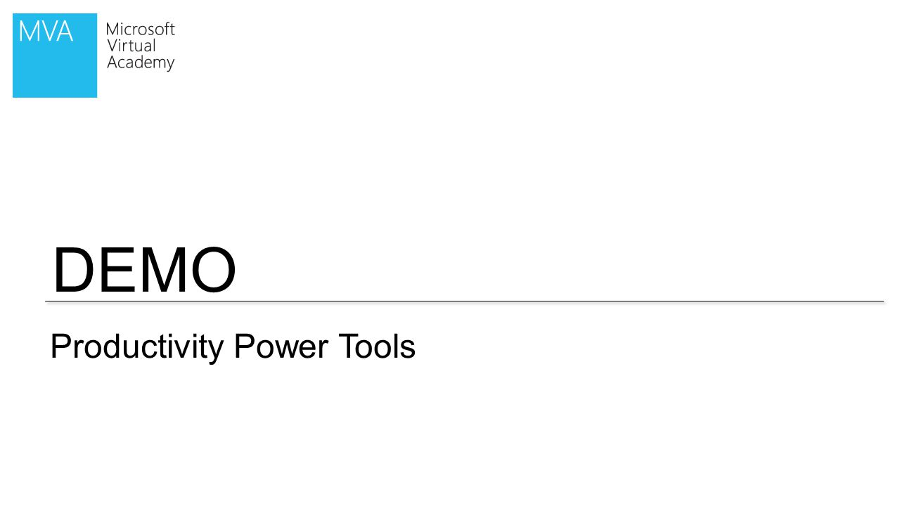 DEMO Productivity Power Tools