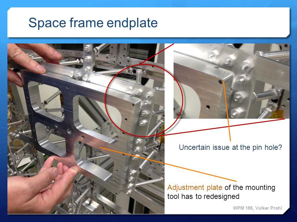 1 1 Space frame endplate WPM 186, Volker Prahl Adjustment plate Module holding bracket