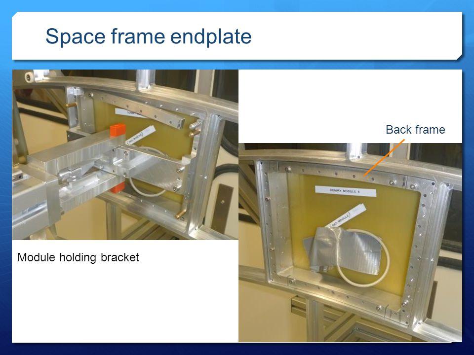 1 1 Space frame endplate WPM 186, Volker Prahl Module holding bracket Back frame
