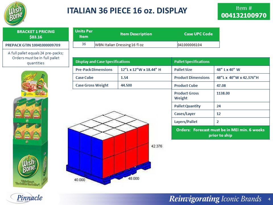 4 4 ITALIAN 36 PIECE 16 oz.