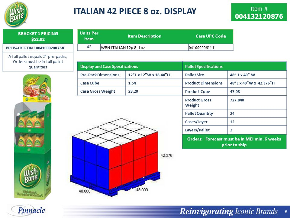 8 8 ITALIAN 42 PIECE 8 oz.