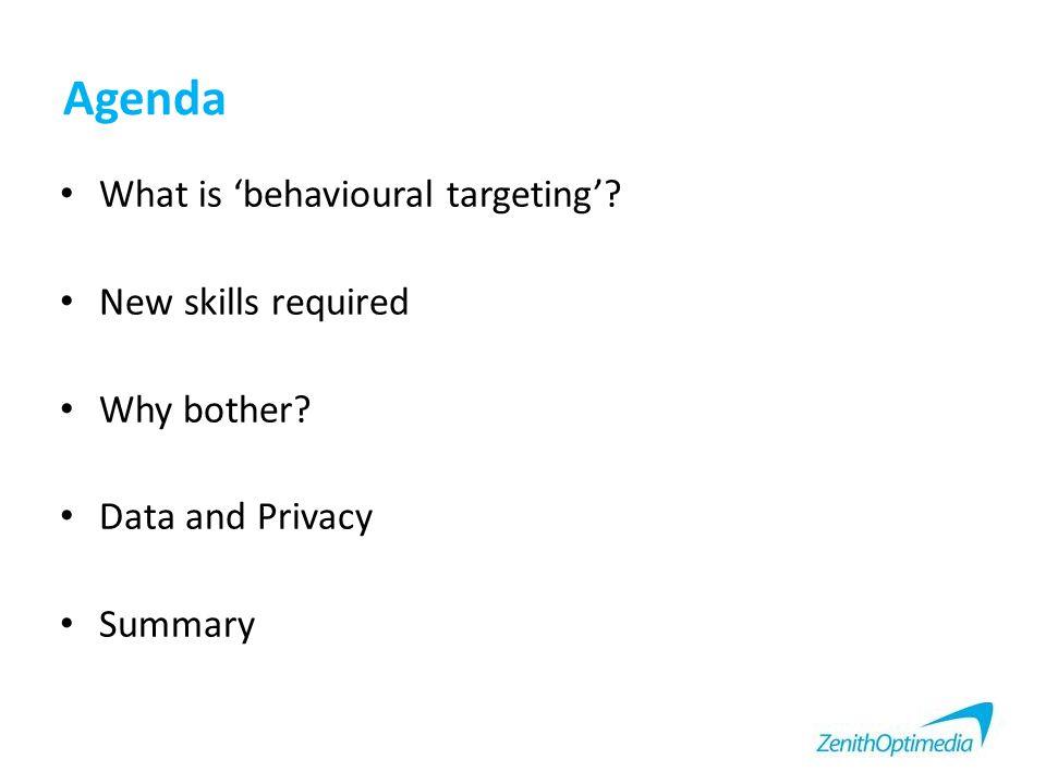 What is 'Behavioural Targeting'.