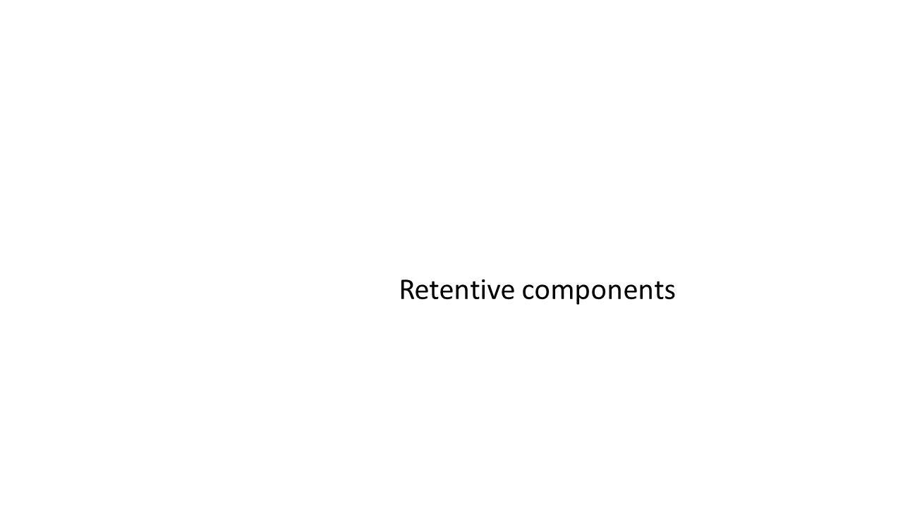 Retentive components