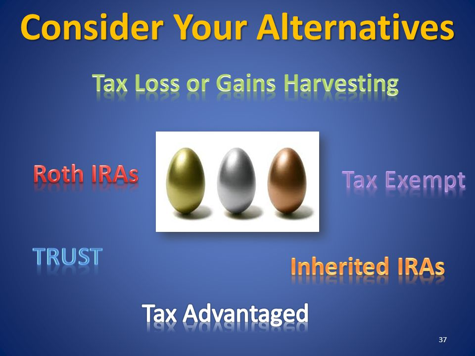 Consider Your Alternatives 37