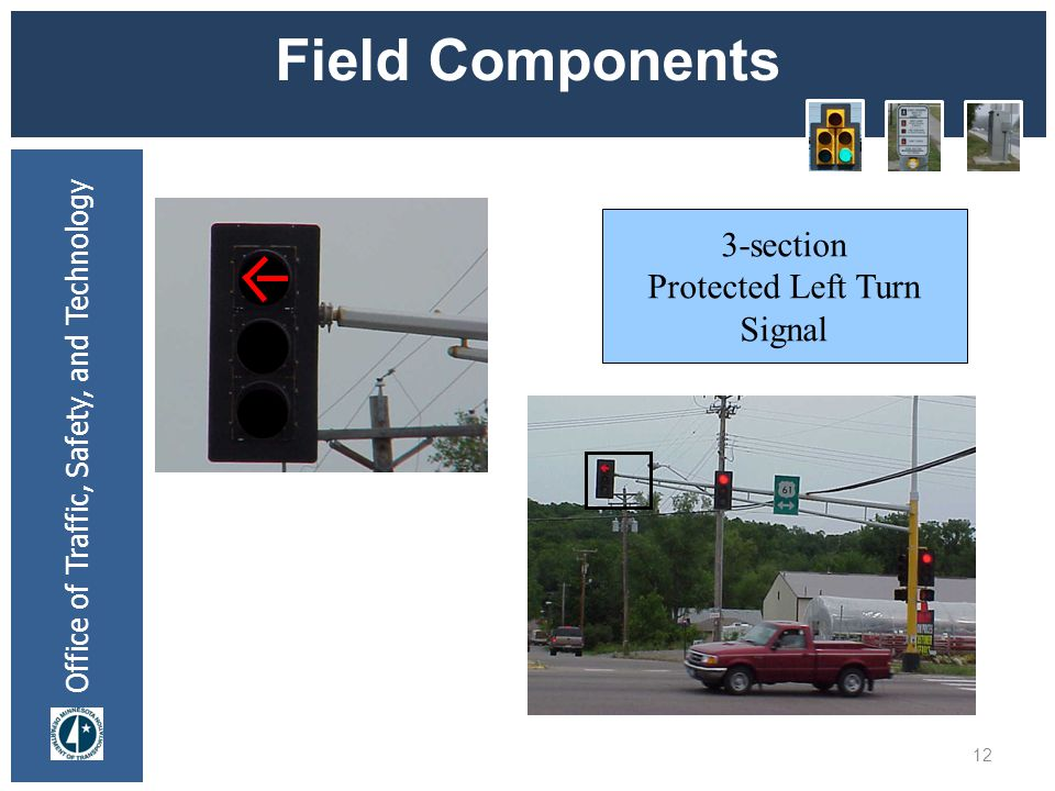 Office of Traffic, Safety, and Technology Field Components 12 3-section Protected Left Turn Signal