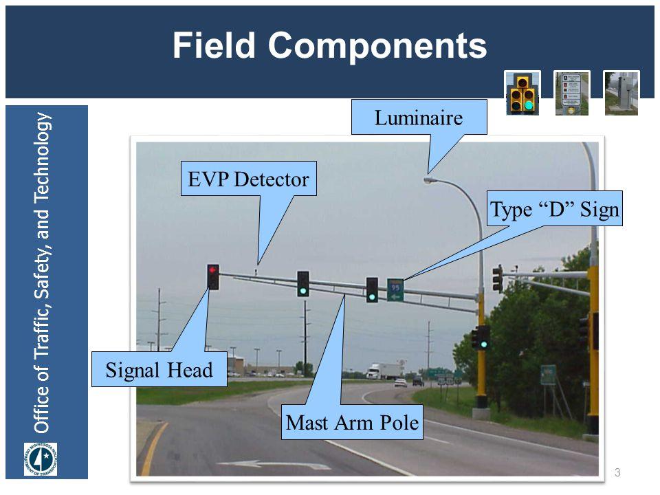 Office of Traffic, Safety, and Technology Field Components 24 Long Pole w/bracketing Pedestal Bracket