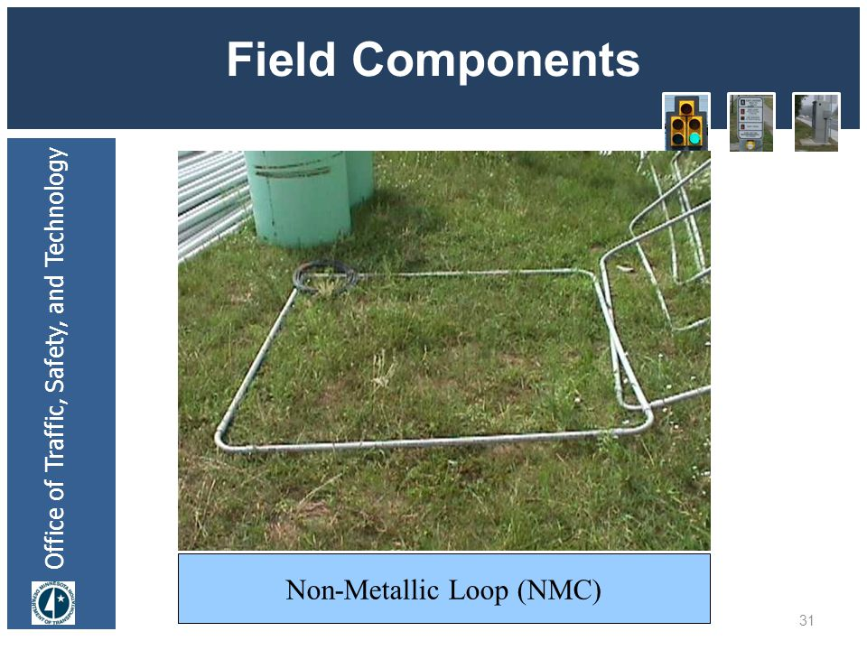 Office of Traffic, Safety, and Technology Field Components 31 Non-Metallic Loop (NMC)