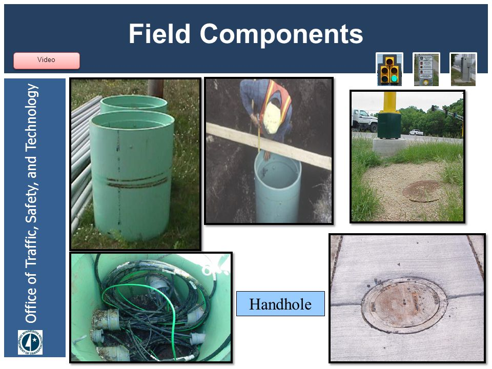 Office of Traffic, Safety, and Technology Field Components 32 Video Handhole
