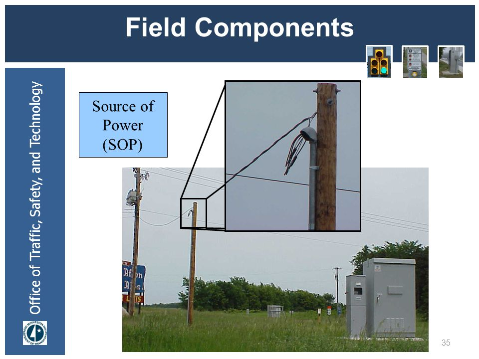 Office of Traffic, Safety, and Technology Field Components 35 Source of Power (SOP)