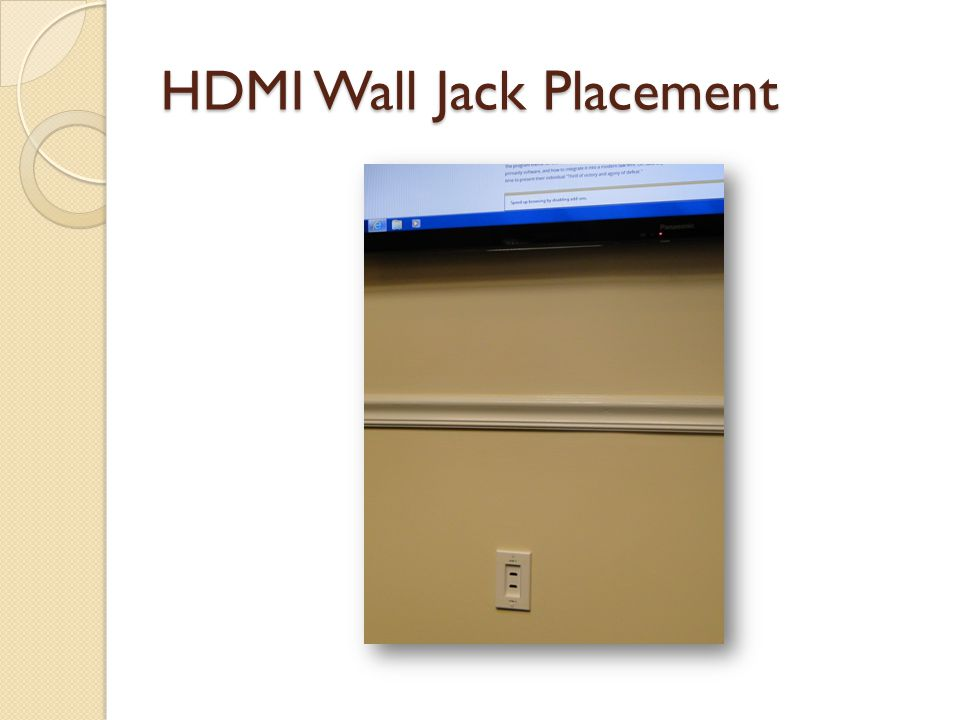HDMI Wall Jack Placement