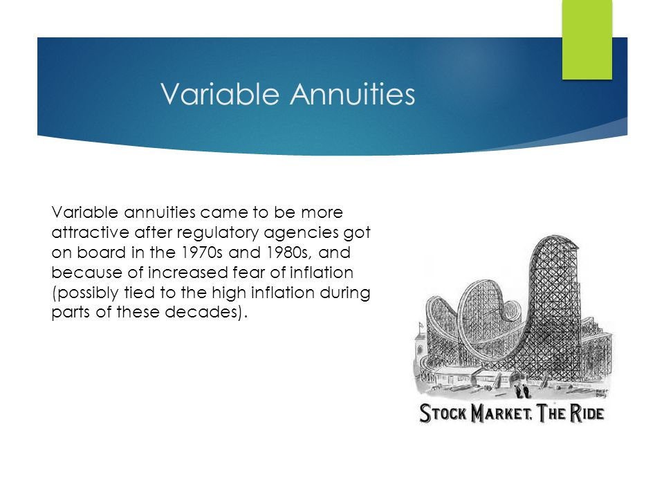 Immediate Annuities (your pensions) This is your grandfather's annuity.