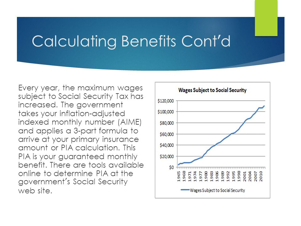 How Are Benefits Calculated.  When you turn 62, your exact amount is calculated.