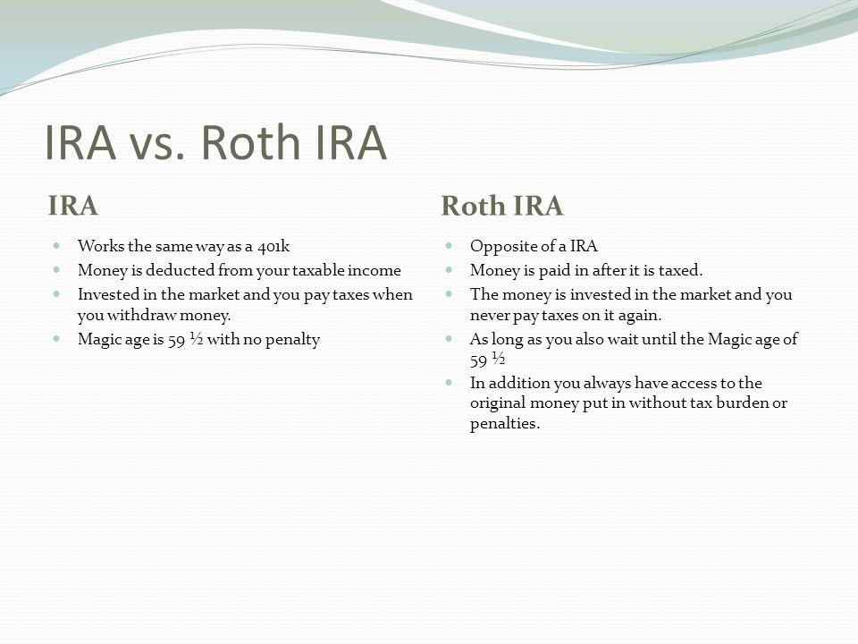 IRA vs.