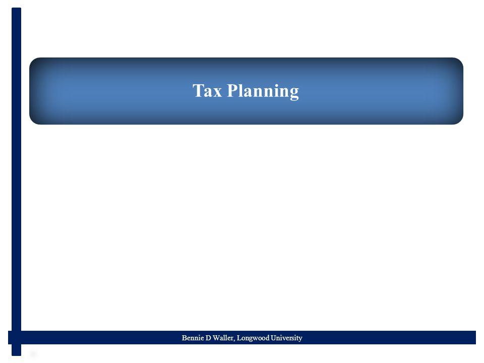 Bennie D Waller, Longwood University Tax Planning