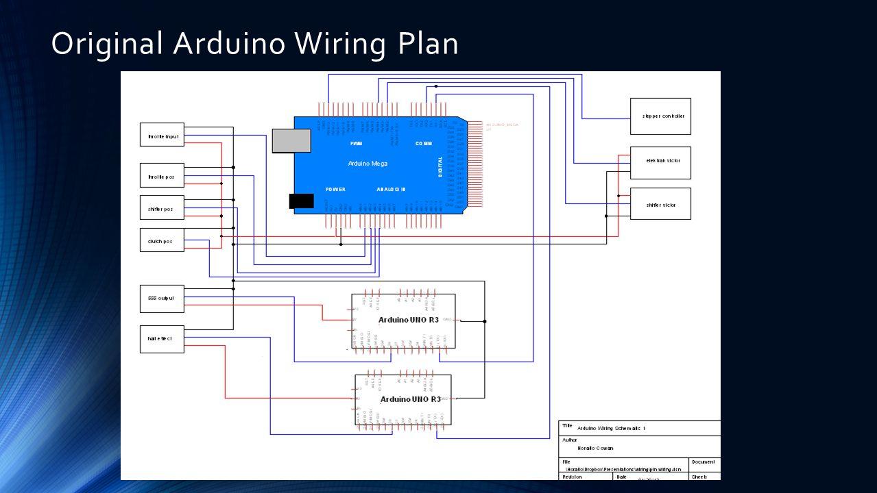 Original Arduino Wiring Plan