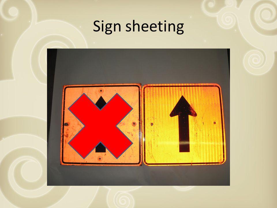 Sign sheeting