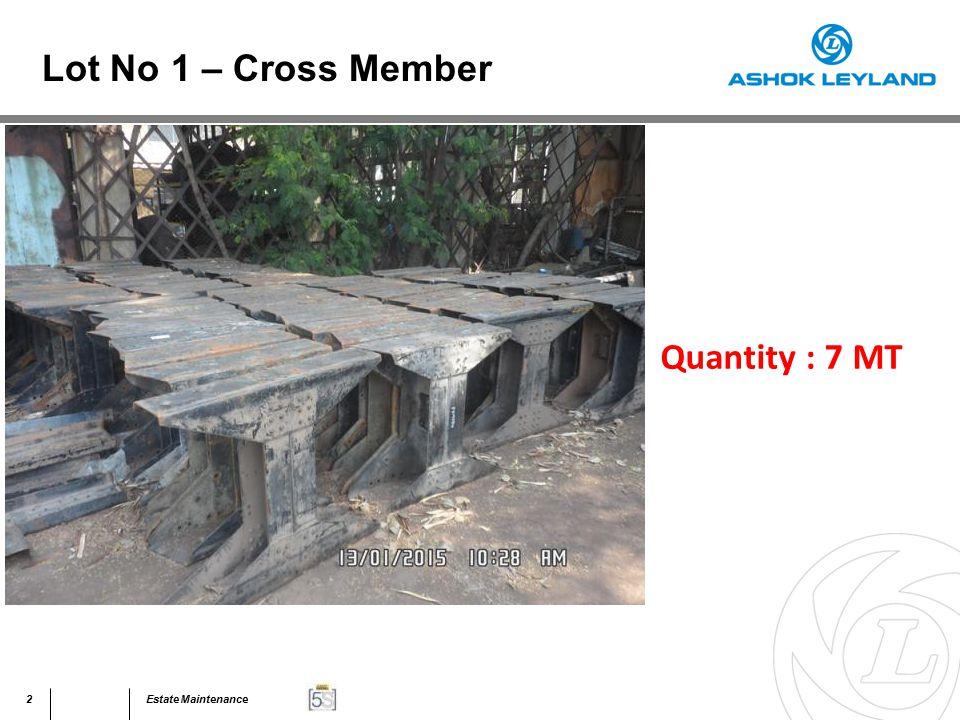53Estate Maintenance Quantity : 40 MT Lot No 31 – Assorted Scrap